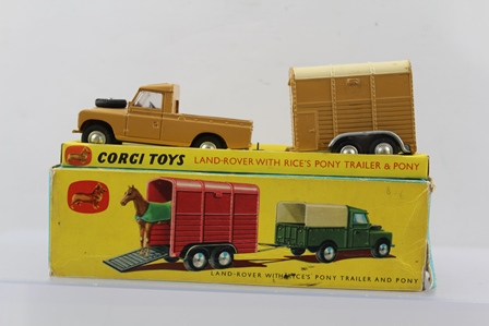 CORGI TOYS GIFT SET no.2, Land Rover with Rices Pony Trailer & Pony, boxed
