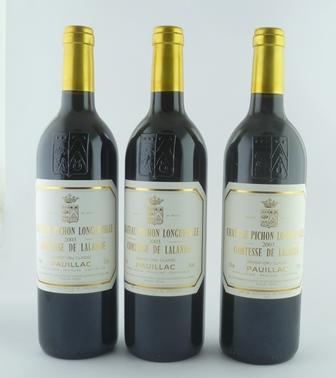 CHATEAU PICHON LONGUEVILLE 2003 Comtesse de Lalande, Grand Cru Classe, Pauillac, 3 bottles
