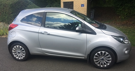 FORD KA ZETEC THREE DOOR HATCHBACK Reg: VA12 NVK 1242cc Petrol Manual . First Registered  31st July 2012, one owner. Colour Silver, Recorded Mileage 10,345 miles, MOT until August 2018. An ideal first car for a young driver. (Buyers Premium this lot £300 including VAT. Bidding on line via the-saleroom.com will incur 3.6% inc VAT on hammer price in addition)