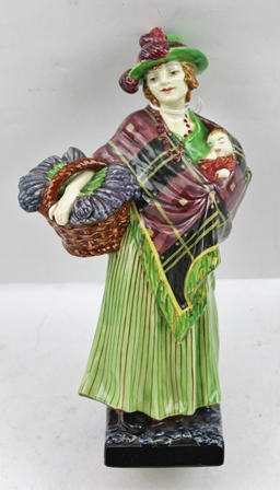 A ROYAL DOULTON CHINA FIGURINE Sweet Lavender, HN1372, 23cm high, bears printed and painted factory marks to base