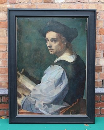 A 20TH CENTURY COPY OF AN OLD MASTER PORTRAIT, oil on canvas in frame, 106cm x 74cm