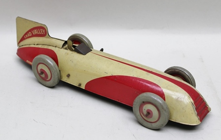 A CHAD VALLEY TIN-PLATE AND CLOCKWORK SINGLE SEATER RACING CAR or landspeed record vehicle no.10003