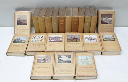 LONSDALE LIBRARY:  Major H.C. Maydon et.al. Big Game Shooting in Africa, 1932 Lord Aberdare et.al. - The Lonsdale Book of Sporting Records 1937 and seventeen other titles, eleven with dust wrappers (19)