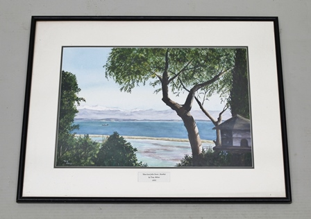 TONY MILLNER View from Jollie Atawhai, a Watercolour, signed, dated 2002 on mount, 32cm x 48cm mounted in an ebonised glazed frame