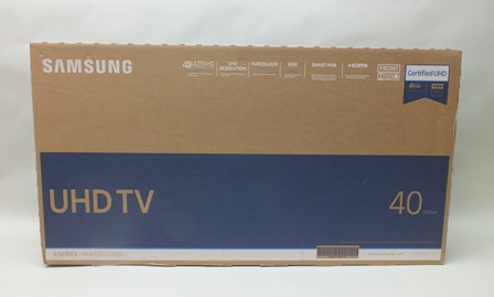 A BRAND NEW BOXED SAMSUNG 40 ULTRA HIGH DEFINITION SMART HUB SERIES 6 TELEVISION