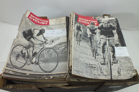 A COLLECTION OF SPORTING CYCLIST AND COUREUR SPORTING CYCLIST, ILLUSTRATED MONTHLY MAGAZINES FROM THE 1950S  1960S, including full years from 1958-1967 (136 copies)