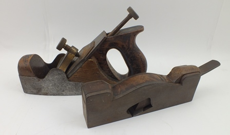 A NORRIS OF LONDON SMOOTHING PLANE, stamped with the Craftsman owners name, together with ONE OTHER PLANE (2)
