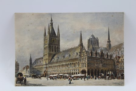 HENRY C. BREWER R.I. (1866-1950) City Square possibly Bruges, Watercolour painting, signed bottom left, 15cm x 22cm, unframed