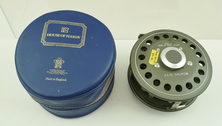 HOUSE OF HARDY J.L.H Salmon, Hardy Wet Fly 2 (DT-10), a 4 alloy Fly Reel (used good condition), U shaped line guide, black handle, correct smooth alloy foot in makers original zip case