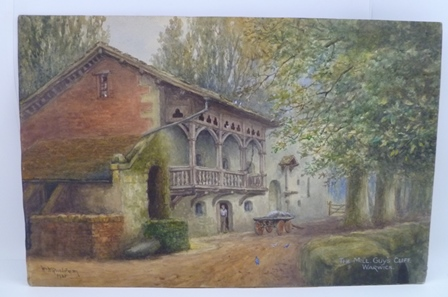 WILLIAM WELLS QUATREMAIN (1857-1930) The Mill, Guys Cliffe, Warwick, a Watercolour painting, signed, inscribed and dated 1921, 25cm x 38cm, unframed