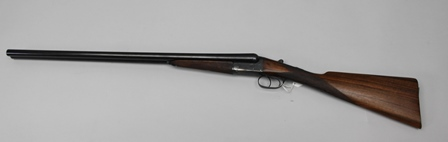 FREDERICK HADFIELD A 12 BORE SIDE BY SIDE BOXLOCK EJECTOR SHOTGUN, No.4035, barrels 28, choke (safety NF) full/full (Shotgun certificate required)