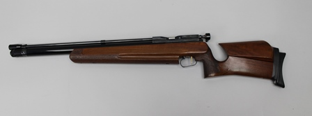 AN AIR ARMS .20 SHAMAL PRE-CHARGE AIR RIFLE, No.00404 with adjustable stock