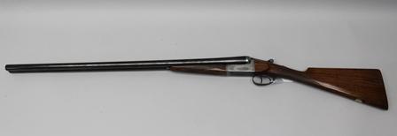 W. DARLOW A 12 BORE SIDE BY SIDE EJECTOR SHOTGUN, No.511, barrels 30, stock 14.25, choke 1/4 and 1/2 (Shotgun Certificate required)