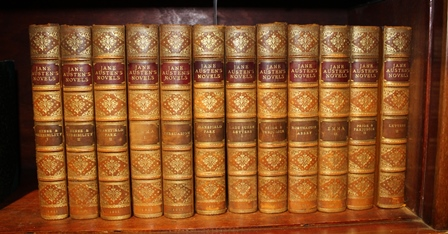 THE NOVELS OF JANE AUSTEN, published by John Grant, Edinburgh, 1911, 12 half calf volumes