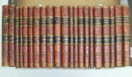 THE WORKS OF DICKENS, CHARLES, illustrated, London, Chapman and Hall, 1890s, half calf, 21 volumes