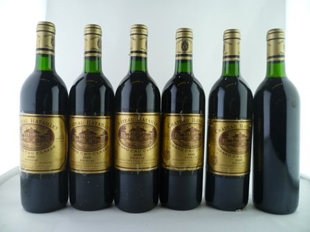 CHATEAU BATAILLEY 1989 Grand Cru Classe Pauillac, 6 bottles (1 missing label)