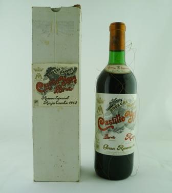 CASTILLO YGAY Gran Reserva Especial 1942, Marques de Murrieta, 1 bottle in original box