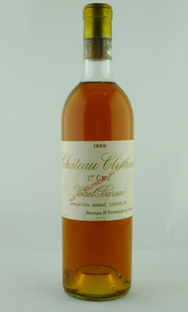 CHATEAU CLIMENS 1969 1er Cru Classe Haut-Barsac, 1 bottle