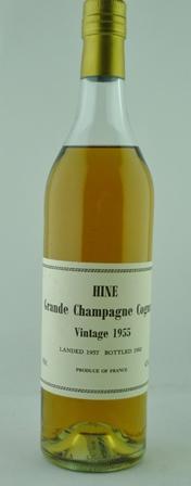 HINE GRANDE CHAMPAGNE COGNAC, 1955, 1 bottle