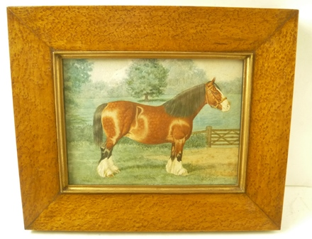 PENRY POWELL PALFREY (1830-1902) Minnehaha, Portrait of a heavy horse in a landscape, Watercolour painting, signed, dated 1895 and inscribed Minnehaha, 17cm x 24cm, framed and glazed
