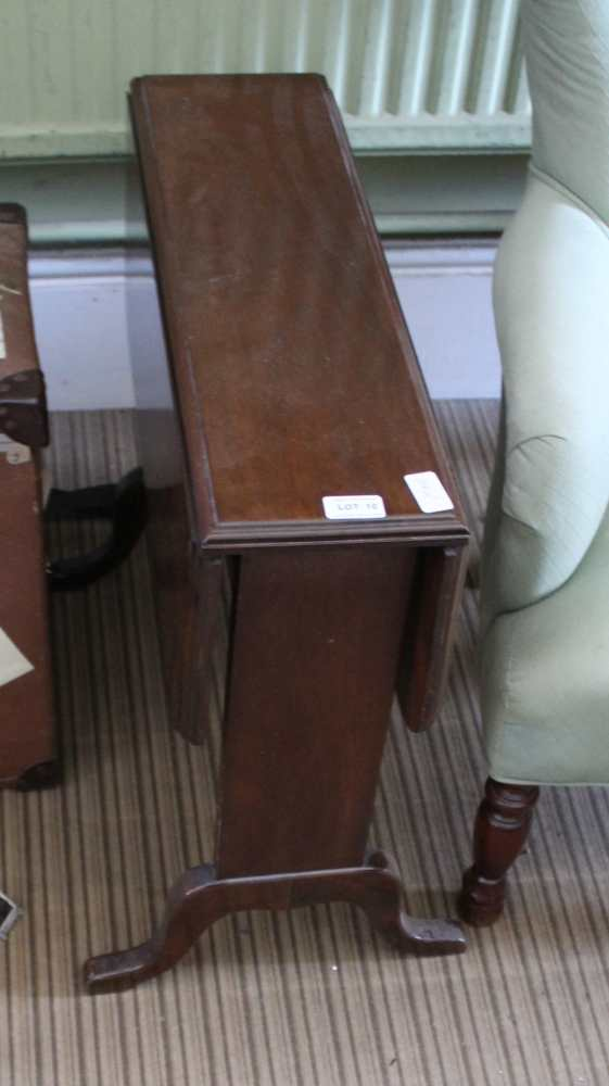 A MAHOGANY TWIN FLAP COFFEE TABLE, supported