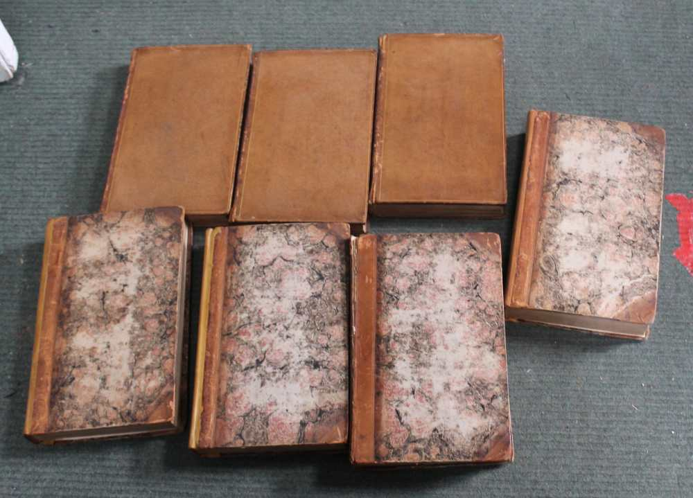 A SELECTION OF ANTIQUARIAN HARDBACK BOOKS to