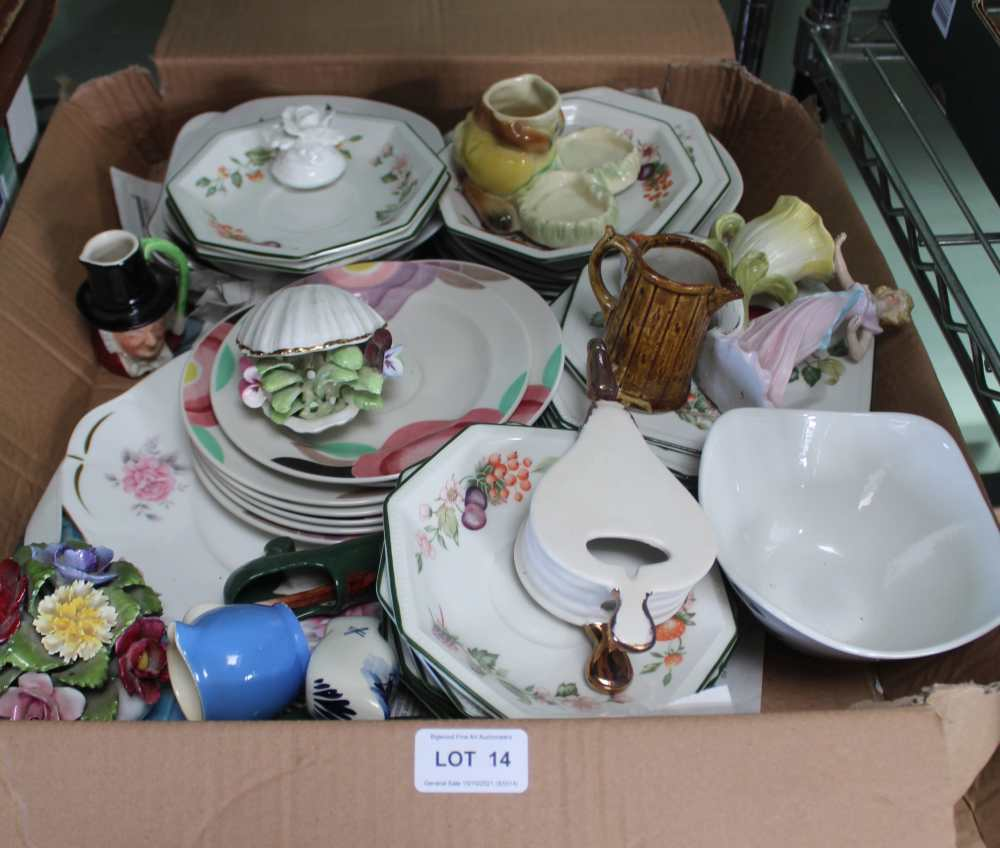 A BOX CONTAINING A SELECTION OF DOMESTIC POTT