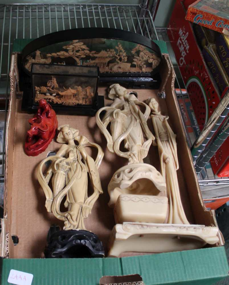 A BOX CONTAINING A SELECTION OF DOMESTIC COLL