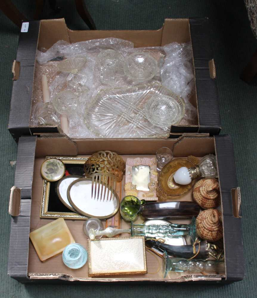 TWO BOXES CONTAINING A SELECTION OF DOMESTIC