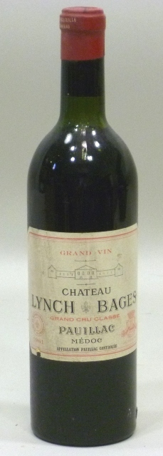 CHATEAU LYNCH BAGES 1961 AC Pauillac grand cru classe, 1 bottle (mid shoulder)