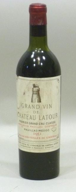 GRAND VIN DE CHATEAU LATOUR 1951 AC Pauillac-Medoc, premier grand cru classe, 1 bottle (top shoulder)