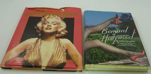 BERNARD OF HOLLYWOOD The Ultimate Pin-up Book, photographs by Bruno Bernard, photo, editorial and Intro by Susan Bernard, 1 volume with dust cover MARILYN - A tribute to Marilyn Monroe with text and captions by Jay Harrison, one volume with dust cover (2)