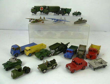 A COLLECTION OF DINKY, CORGI & OTHER DIE-CAST MODEL CARS & VANS including; Supertoys, Foden dumper truck, in 5 boxes