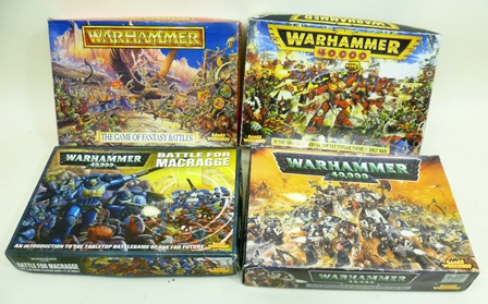 A LARGE COLLECTION OF WARHAMMER including Space Marines, Orcs etc., to include boxed sets