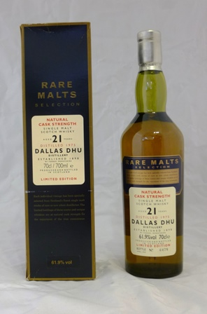 DALLAS DHU aged 21 years limited edition Single Malt Scotch Whisky, Natural Cask Strength, distilled 1975, 61.9% vol., 1 x 70cl bottle in original presentation box