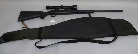 A 22-2520 REM REMINGTON MOD 700 ALL WEATHER BOLT ACTION RIFLE No:E6892982 fitted with Burris type scope and a BSA Deerhunter 3-9 x 50 telescopic sight (section one firearms cert. reqd.)