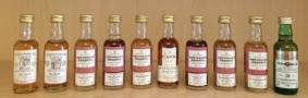 A SELECTION OF TEN 5cl SINGLE MALT WHISK